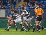13 March 2018; John Kennedy of St Mary's College is tackled by Joshua Murphy of Belvedere College during the Bank of Ireland Leinster Schools Junior Cup Semi-Final match between Belvedere College and St Mary's College at Donnybrook Stadium in Dublin. Photo by Daire Brennan/Sportsfile