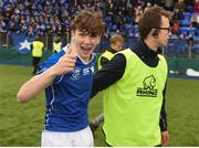 13 March 2018; Rob Nolan of St Mary's College celebrates after the Bank of Ireland Leinster Schools Junior Cup Semi-Final match between Belvedere College and St Mary's College at Donnybrook Stadium in Dublin. Photo by Daire Brennan/Sportsfile
