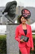 14 March 2018; Jennifer Wrynne, from Mohill, Co Leitrim, arrives for Ladies Day ahead of racing on Day Two of the Cheltenham Racing Festival at Prestbury Park in Cheltenham, England. Photo by Ramsey Cardy/Sportsfile