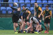 14 March 2018: Tom Corcoran of Dundalk Grammar in action against CBS Enniscorthy - St Marys during the Duff Cup Final match between CBS Enniscorthy - St Marys and Dundalk Grammar at Donnybrook Stadium in Dublin. Photo by Matt Browne/Sportsfile