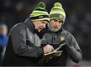 10 March 2018: Donegal manager Declan Bonner, left, and selector Karl Lacey before the Allianz Football League Division 1 Round 5 match between Tyrone and Donegal at Healy Park in Omagh, Co Tyrone. Photo by Oliver McVeigh/Sportsfile