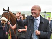 14 March 2018; Owner Philip Reynolds celebrates after sending out Presenting Percy to win the RSA Steeple Chase on Day Two of the Cheltenham Racing Festival at Prestbury Park in Cheltenham, England. Photo by Seb Daly/Sportsfile