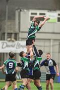14 March 2018: Shane Stokes of Gorey Community School takes the ball in the lineout against Dundalk Grammar School during the McMullan Cup Final match between Gorey Community School and Dundalk Grammar at Donnybrook Stadium in Dublin. Photo by Matt Browne/Sportsfile
