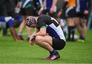 14 March 2018: David Murdock of Dundalk Grammar School at the end of the McMullan Cup Final match between Gorey Community School and Dundalk Grammar at Donnybrook Stadium in Dublin. Photo by Matt Browne/Sportsfile