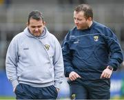 11 March 2018: Wexford manager Davy Fitzgerald, left, and selector Seoirse Bulfin prior to the Allianz Hurling League Division 1A Round 5 match between Kilkenny and Wexford at Nowlan Park in Kilkenny. Photo by Brendan Moran/Sportsfile