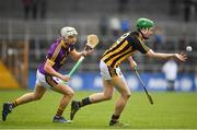 11 March 2018: Joey Holden of Kilkenny in action against Cathal Dunbar of Wexford during the Allianz Hurling League Division 1A Round 5 match between Kilkenny and Wexford at Nowlan Park in Kilkenny. Photo by Brendan Moran/Sportsfile