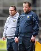 11 March 2018: Wexford manager Davy Fitzgerald, left, with selector Seoirse Bulfin during the Allianz Hurling League Division 1A Round 5 match between Kilkenny and Wexford at Nowlan Park in Kilkenny. Photo by Brendan Moran/Sportsfile