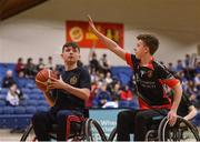 13 March 2018: The finals of the inaugural 'All-Ireland TY Wheelchair Basketball Championships' launched by Irish Wheelchair Association (IWA) took place on Tuesday, 13th March 2018 in the National Basketball Arena, Tallaght. Ardscoil na Mara, Tramore Co. Waterford and Gaelcholáiste Mhuire AG, Cork reached the grand final with Gaelcholáiste Mhuire AG rolling to victory on the day, in a fast paced match which ended in 11 - 4. Pictured is a general view of action during the games at the National Basketball Arena in Tallaght, Dublin. Photo by Eóin Noonan/Sportsfile