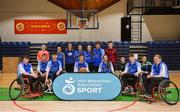 13 March 2018: The finals of the inaugural  'All-Ireland TY Wheelchair Basketball Championships' launched by Irish Wheelchair Association (IWA) took place on Tuesday, 13th March 2018 in the National Basketball Arena, Tallaght. Ardscoil na Mara, Tramore Co. Waterford and Gaelcholáiste Mhuire AG, Cork reached the grand final with Gaelcholáiste Mhuire AG rolling to victory on the day, in a fast paced match which ended in 11 - 4. Pictured is the Grennans College Thomastown team at the National Basketball Arena in Tallaght, Dublin. Photo by Eóin Noonan/Sportsfile