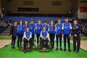 13 March 2018: The finals of the inaugural  'All-Ireland TY Wheelchair Basketball Championships' launched by Irish Wheelchair Association (IWA) took place on Tuesday, 13th March 2018 in the National Basketball Arena, Tallaght. Ardscoil na Mara, Tramore Co. Waterford and Gaelcholáiste Mhuire AG, Cork reached the grand final with Gaelcholáiste Mhuire AG rolling to victory on the day, in a fast paced match which ended in 11 - 4. Pictured is third place Grennan's College Thomastown at the National Basketball Arena in Tallaght, Dublin. Photo by Eóin Noonan/Sportsfile