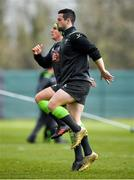 15 March 2018; John Cooney during an Ireland rugby squad training at Carton House, in Maynooth, Co. Kildare. Photo by Brendan Moran/Sportsfile