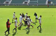 16 March 2018; England head coach Eddie Jones oversees his backs during the England rugby captain's run at Twickenham Stadium in London, England. Photo by Brendan Moran/Sportsfile