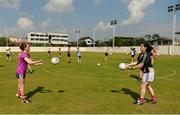 16 March 2018; Sharon Courtney of Monaghan and Aisling Doonan of Cavan, right, during a training session on the TG4 Ladies Football All-Star Tour 2018. Berkeley International School. Bangkok, Thailand. Photo by Piaras Ó Mídheach/Sportsfile