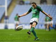 16 March 2018; Hannah Tyrrell of Ireland kicks a conversion during the Women's Six Nations Rugby Championship match between England and Ireland at the Ricoh Arena in Coventry, England. Photo by Harry Murphy/Sportsfile