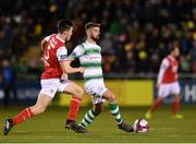 16 March 2018; Greg Bolger of Shamrock Rovers in action against Lee Desmond of St Patrick's Athletic during the SSE Airtricity League Premier Division match between Shamrock Rovers and St Patrick's Athletic at Tallaght Stadium in Tallaght, Dublin. Photo by Eóin Noonan/Sportsfile