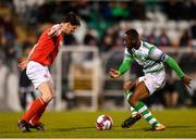 16 March 2018; Dan Carr of Shamrock Rovers in action against Owen Garvan of St Patrick's Athletic during the SSE Airtricity League Premier Division match between Shamrock Rovers and St Patrick's Athletic at Tallaght Stadium in Tallaght, Dublin. Photo by Eóin Noonan/Sportsfile