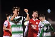 16 March 2018; Ronan Finn of Shamrock Rovers celebrates following his side's win in the SSE Airtricity League Premier Division match between Shamrock Rovers and St Patrick's Athletic at Tallaght Stadium in Tallaght, Dublin. Photo by Eóin Noonan/Sportsfile