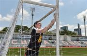 17 March 2018; James Donnelly, originally from St. Brigid's GAA, Co Roscommon, puts up the goalnets before the 2016 All-Stars v 2017 All-Stars Exhibition match during the TG4 Ladies Football All-Star Tour 2018. Chulalongkorn University Football Club Stadium, Bangkok, Thailand. Photo by Piaras Ó Mídheach/Sportsfile
