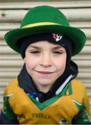 17 March 2018: Corofin supporter Eoin Mooney, age 7, from Corofin, Co. Galway prior to the AIB GAA Football All-Ireland Senior Club Championship Final match between Corofin and Nemo Rangers at Croke Park in Dublin. Photo by David Fitzgerald/Sportsfile
