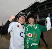 17 March 2018; Supporters Ollie Brown from Farnham, Surrey and Beth Callan from Kanturk, County Cork prior to the NatWest Six Nations Rugby Championship match between England and Ireland at Twickenham Stadium in London, England. Photo by Ramsey Cardy/Sportsfile
