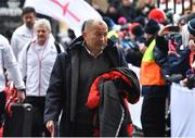 17 March 2018; England head coach Eddie Jones arrives prior to the NatWest Six Nations Rugby Championship match between England and Ireland at Twickenham Stadium in London, England. Photo by Brendan Moran/Sportsfile