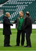 17 March 2018; England head coach Eddie Jones and Ireland head coach Joe Schmidt meet prior to the NatWest Six Nations Rugby Championship match between England and Ireland at Twickenham Stadium in London, England. Photo by Brendan Moran/Sportsfile