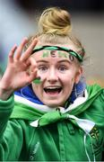 17 March 2018: A Nemo Rangers supporter prior to the AIB GAA Football All-Ireland Senior Club Championship Final match between Corofin and Nemo Rangers at Croke Park in Dublin. Photo by David Fitzgerald/Sportsfile