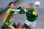 17 March 2018: Micheál Aodh Martin of Nemo Rangers in action against Ian Burke of Corofin during the AIB GAA Football All-Ireland Senior Club Championship Final match between Corofin and Nemo Rangers at Croke Park in Dublin. Photo by Stephen McCarthy/Sportsfile