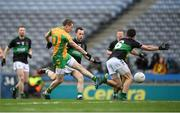 17 March 2018: Gary Sice of Corofin shoots to score his side's first goal during the AIB GAA Football All-Ireland Senior Club Championship Final match between Corofin and Nemo Rangers at Croke Park in Dublin. Photo by Stephen McCarthy/Sportsfile