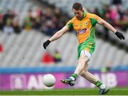 17 March 2018: Gary Sice of Corofin scores his side's first goal during the AIB GAA Football All-Ireland Senior Club Championship Final match between Corofin and Nemo Rangers at Croke Park in Dublin. Photo by Eóin Noonan/Sportsfile