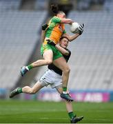 17 March 2018: Kieran Molloy of Corofin is tackled by Kevin O'Donovan of Nemo Rangers during the AIB GAA Football All-Ireland Senior Club Championship Final match between Corofin and Nemo Rangers at Croke Park in Dublin. Photo by Eóin Noonan/Sportsfile