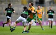 17 March 2018: Gary Sice of Corofin in action against Stephen Cronin of Nemo Rangers during the AIB GAA Football All-Ireland Senior Club Championship Final match between Corofin and Nemo Rangers at Croke Park in Dublin. Photo by David Fitzgerald/Sportsfile