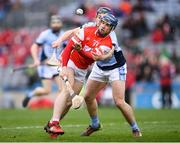 17 March 2018: Seán Treacy of Cuala in action against Mike Casey of Na Piarsaigh during the AIB GAA Hurling All-Ireland Senior Club Championship Final match between Cuala and Na Piarsaigh at Croke Park in Dublin. Photo by Stephen McCarthy/Sportsfile