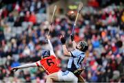 17 March 2018: Kevin Downes of Na Piarsaigh in action against Seán Moran of Cuala during the AIB GAA Hurling All-Ireland Senior Club Championship Final match between Cuala and Na Piarsaigh at Croke Park in Dublin. Photo by David Fitzgerald/Sportsfile
