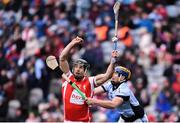17 March 2018: Mark Schutte of Cuala in action against Niall Buckley of Na Piarsaigh during the AIB GAA Hurling All-Ireland Senior Club Championship Final match between Cuala and Na Piarsaigh at Croke Park in Dublin. Photo by David Fitzgerald/Sportsfile