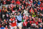 17 March 2018: Kevin Downes of Na Piarsaigh in action against Cian O'Callaghan of Cuala during the AIB GAA Hurling All-Ireland Senior Club Championship Final match between Cuala and Na Piarsaigh at Croke Park in Dublin. Photo by Eóin Noonan/Sportsfile
