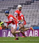 17 March 2018: Seán Treacy of Cuala celebrates his side's last minute equalising goal during the AIB GAA Hurling All-Ireland Senior Club Championship Final match between Cuala and Na Piarsaigh at Croke Park in Dublin. Photo by David Fitzgerald/Sportsfile