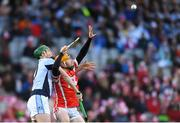 17 March 2018: Oisín Gough of Cuala in action against Ronan Lynch of Na Piarsaigh during the AIB GAA Hurling All-Ireland Senior Club Championship Final match between Cuala and Na Piarsaigh at Croke Park in Dublin. Photo by Eóin Noonan/Sportsfile