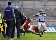 17 March 2018: Shane Dowling of Na Piarsaigh in action against Nicky Kenny of Cuala during the AIB GAA Hurling All-Ireland Senior Club Championship Final match between Cuala and Na Piarsaigh at Croke Park in Dublin. Photo by David Fitzgerald/Sportsfile