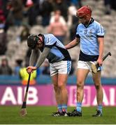 17 March 2018: Peter Casey, left, and Adrian Breen of Na Piarsaigh following the AIB GAA Hurling All-Ireland Senior Club Championship Final match between Cuala and Na Piarsaigh at Croke Park in Dublin. Photo by David Fitzgerald/Sportsfile