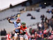 17 March 2018: Adrian Breen of Na Piarsaigh in action against Simon Timlin of Cuala during the AIB GAA Hurling All-Ireland Senior Club Championship Final match between Cuala and Na Piarsaigh at Croke Park in Dublin. Photo by David Fitzgerald/Sportsfile