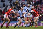 17 March 2018: Kieran Kennedy of Na Piarsaigh in action against Mark Schutte, left, and Con O'Callaghan of Cuala during the AIB GAA Hurling All-Ireland Senior Club Championship Final match between Cuala and Na Piarsaigh at Croke Park in Dublin. Photo by David Fitzgerald/Sportsfile