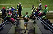 17 March 2018; Peter Crowley of Kerry makes his way out for the Allianz Football League Division 1 Round 6 match between Kerry and Kildare at Austin Stack Park in Tralee, Co Kerry. Photo by Diarmuid Greene/Sportsfile