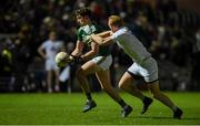 17 March 2018; Paul Geaney of Kerry in action against Keith Cribbin of Kildare during the Allianz Football League Division 1 Round 6 match between Kerry and Kildare at Austin Stack Park in Tralee, Co Kerry. Photo by Diarmuid Greene/Sportsfile