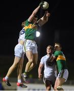 17 March 2018; Jack Barry of Kerry wins possession from a kick-out ahead of Paul Cribbin of Kildare during the Allianz Football League Division 1 Round 6 match between Kerry and Kildare at Austin Stack Park in Tralee, Co Kerry. Photo by Diarmuid Greene/Sportsfile