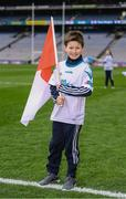 17 March 2018: AIB flagbearer Conor Flanagan, age 9, who won an AIB flag bearer competition to wave on Cuala at the AIB Senior Hurling Club Championship Final between Cuala and Na Piarsaigh at Croke Park on St. Patrick's Day. For exclusive content and behind the scenes action of the AIB GAA & Camogie Club Championships follow AIB GAA on Facebook, Twitter, Instagram and Snapchat and www.aib.ie/gaa. Photo by Stephen McCarthy/Sportsfile