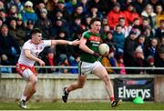 18 March 2018; Diarmuid O'Connor of Mayo in action against Connor McAliskey of Tyrone during the Allianz Football League Division 1 Round 6 match between Mayo and Tyrone at Elverys MacHale Park in Castlebar, Co. Mayo. Photo by Sam Barnes/Sportsfile