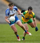 18 March 2018; Darren Hughes of Monaghan in action against Paddy McGrath of Donegal during the Allianz Football League Division 1 Round 6 match between Monaghan and Donegal at St. Tiernach's Park in Clones, Monaghan. Photo by Oliver McVeigh/Sportsfile