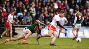 18 March 2018; Niall Sludden of Tyrone in action against Jason Doherty of Mayo during the Allianz Football League Division 1 Round 6 match between Mayo and Tyrone at Elverys MacHale Park in Castlebar, Co. Mayo. Photo by Sam Barnes/Sportsfile