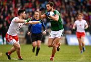 18 March 2018; Tom Parsons of Mayo in action against Pádraig Hampsey of Tyrone during the Allianz Football League Division 1 Round 6 match between Mayo and Tyrone at Elverys MacHale Park in Castlebar, Co. Mayo. Photo by Sam Barnes/Sportsfile